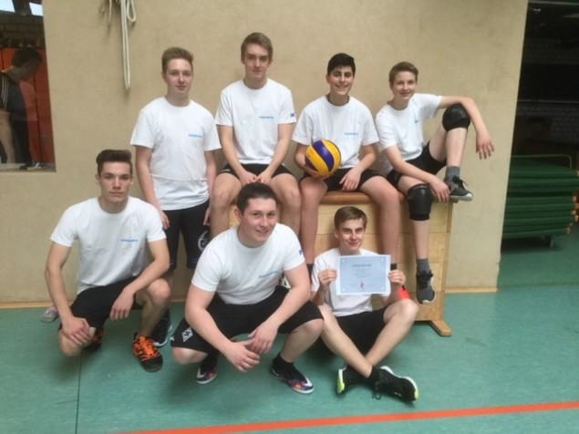Jungen Sieger Volleyball 2018