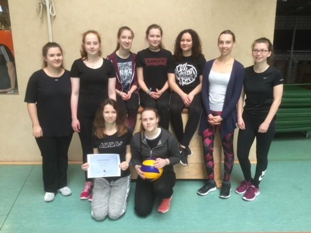Mädchen Sieger Volleyball 2018
